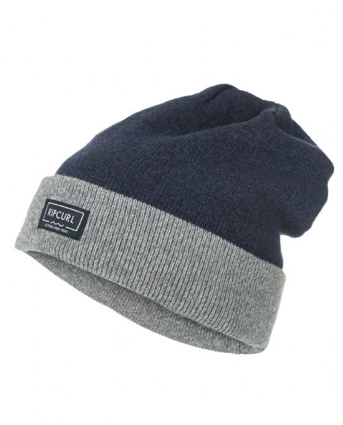 98f8b6382b5 RIP CURL MENS BEANIE HAT.ROLLA LOOSE FIT BLUE TURN FOLD UP WOOLLY CAP 7W .